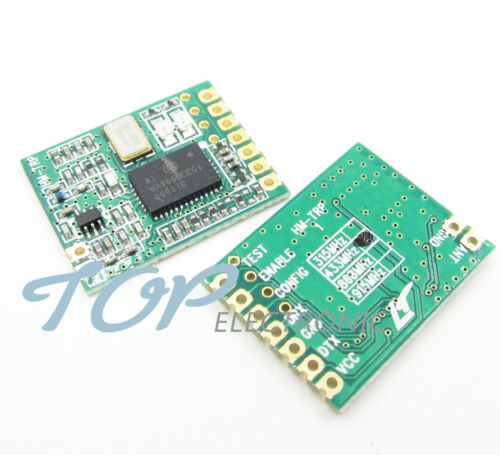 Transmisor receptor inalámbrico 2PCS HM-TRP 433Mhz UART programa RS232 Control Remoto