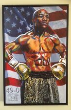 Floyd Mayweather Jr Strictly Ltd Ed only 49 Hand Embellished Canvas By Killian