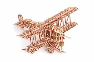 Wood Trick Air Plane Aircraft Mechanical Wooden 3D Puzzle Model Assembly Kit