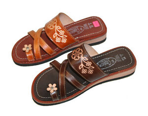 41ffe3f22fc LADIES LEATHER MEXICAN SANDAL HUARACHE SLIP ON WOMEN ALL SIZES ...