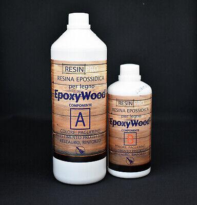 Imparato Epoxywood 1.5 Kg Resina Epossidica Per Legno - Rivestimento Protettivo, Restauro