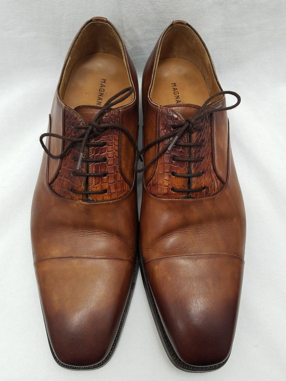produttori fornitura diretta Magnanni Alligator Marrone Lace Lace Lace Up scarpe Oxford Dimensione 11 M US Style 16550 Spain  ultimi stili