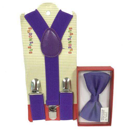 "USA /""PURPLE/"" Matching Suspender /& Bow-Tie Set Kids Toddler Baby Boys Girls"