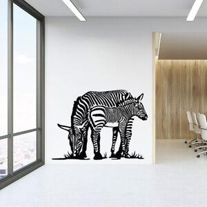 Details About Zebra Wall Art Decal Vinyl Sticker Decor Mural Transfer Savanna Africa Safari