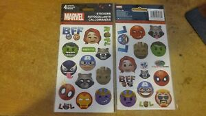 VERY RARE MARVEL STICKERS - NEW 4 SHEET IN THE PACK