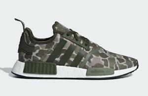 adede86d3bf4c ADIDAS NMD R1 BOOST DUCK CAMO SESAME STEEL BASE GREEN- D96617