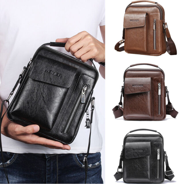ef970531 Trendy Men Bag Fashion Crossbody Bag Small Casual Hand Bag PU Leather Male  Bag H for sale online | eBay