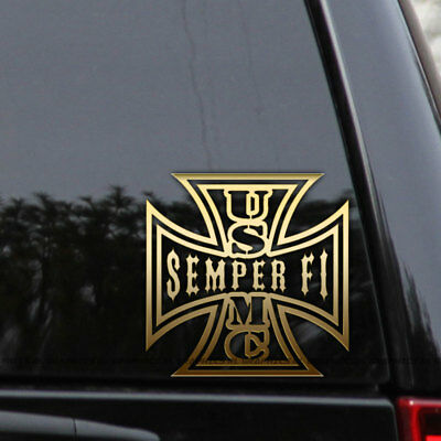 USMC Semper Fi Marine Corps Vinyl Decal Sticker Car Truck Window