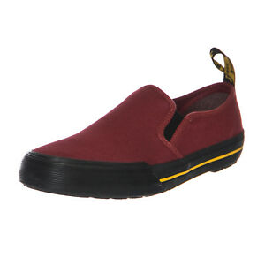 Cherry Bordeaux Toomey Sneakers martens Slip Dr Red Canvas On q8OYz