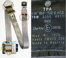 VW Golf Mk4 Safety Belt Drivers Side Front Seat Belt Gray 1J4 857 706 K