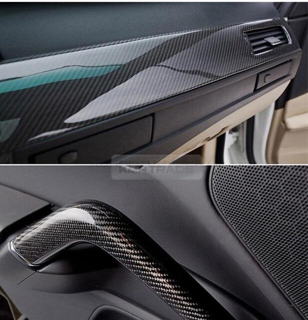 "7.8/""x11/"" 5D Ultra Shiny Glossy Carbon Black Decal Fiber Sticker for HONDA Car"