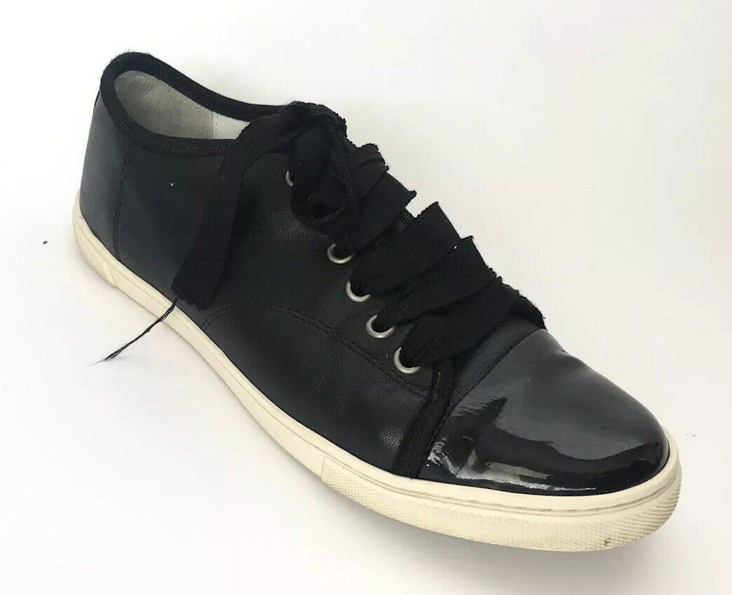 Lanvin Women shoes Size 38 Low Top Sneakers Black Leather