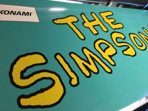 "The Simpsons Arcade Marquee by Konami 27/"" x 8/"""