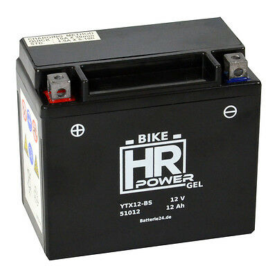HR Bike 12V GEL Batterie YTX12-BS 51012 12Ah Yamaha TDM 850 H