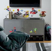 Wall Sticker 34 Pc Mario Kart Wii Children Room Decor