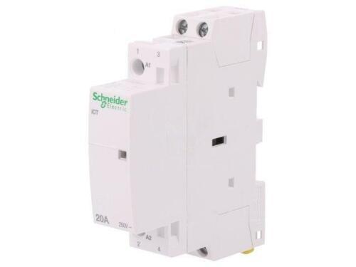 A9C22722 Contactor 2 polos instalación 230240VAC 20A no x2 DIN ICT Schneiders
