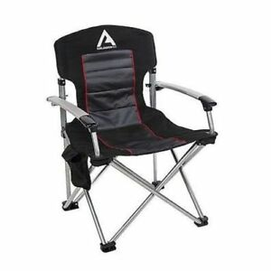 arb 10500111a air locker camping chair with storage bag black ebay