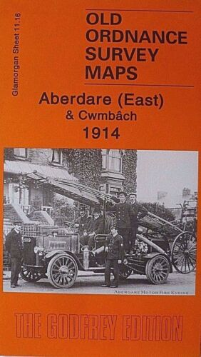 OLD ORDNANCE SURVEY MAPS ABERDARE EAST /& CWMBACH GLAMORGAN  1914 SHEET 11.16