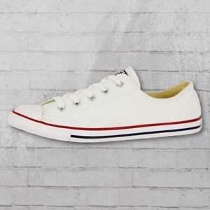 Details zu Converse Low Chucks Damen Schuhe CT Dainty OX weiss Frauen Sneaker flache Sohle