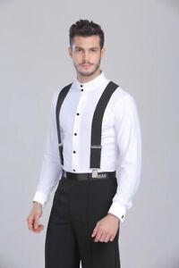 1100346e0f22 Men Dance Shirt Ballroom Modern Salsa Samba Smooth Latin Blouse Top ...