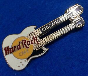 Chicago-Early-Blanco-Doble-Cuello-Gibson-Sg-Guitarra-3LC-Cuadricula-Espalda