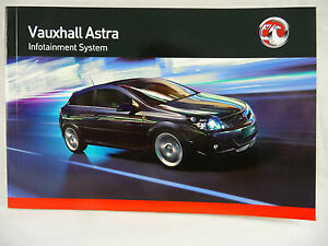 vauxhall astra h radio cd bluetooth audio manual handbook 2005 rh ebay co uk Opel Astra 2010 Opel Astra 2015