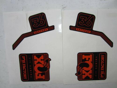 Orange Fox Factory-36 Fork Decal Set