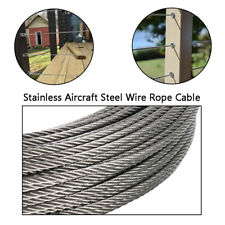 """100 Ft 1//8/"""" .125/"""" T-304 Grade 7 x 7 Stainless Steel Aircraft Cable Wire Rope"""