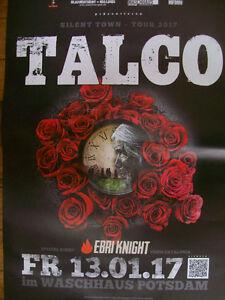 TALCO Poster A1 Konzert 13.1.2017 Silent Town Tour, Potsdam Waschhaus - Berlin, Deutschland - TALCO Poster A1 Konzert 13.1.2017 Silent Town Tour, Potsdam Waschhaus - Berlin, Deutschland