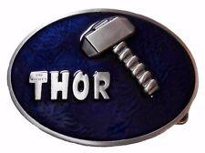 Marvel Comics THOR'S HAMMER Metal/Blue Enamel BELT BUCKLE