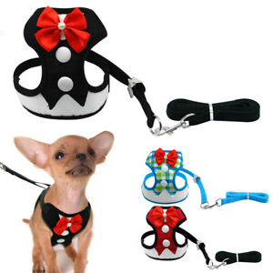 Tuxedo-Dog-Harness-and-Leads-Pet-Puppy-Cat-Vest-Breathable-for-Small-Dogs-Yorkie