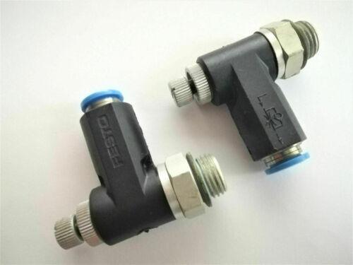1//4-qs-8-rs-b//p8 1 x Festo zorzal-caudal regulador nº 162968 grla