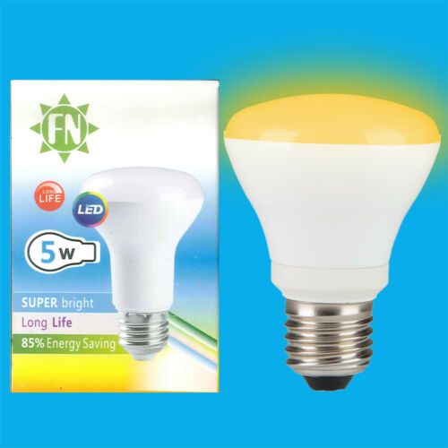 5W LED R63 Coloured Reflector Disco Spot Light Bulbs ES E27 Screw Lamp 85-265V