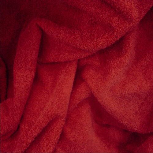Rouge 100/% Terry Essuie-Tout Tissu Serviette peignoirs usage maritime vendu au mètre