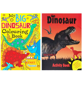 Kids Boys Girls A4 My Big Dinosaur Colouring Activity Book Books Brand New Ebay