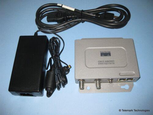 Cisco Aironet 1300 Power Injector LR2 AIR-PWRINJ-BLR2 AC Power Adapter Bundle
