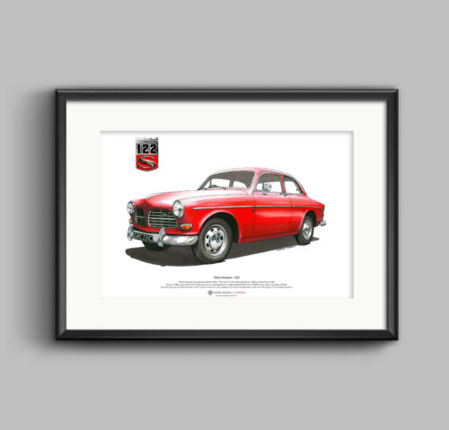 Volvo Amazon 122S ART POSTER A3 size