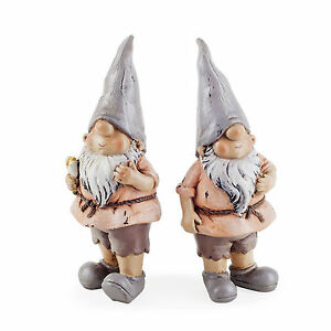 Garden-Gnome-Ornament-Set-Rowan-amp-Brody-the-Garden-Loving-Gnome-Resin-12cm