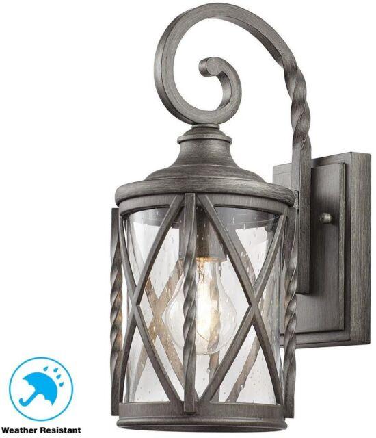 Home Decorators 1 Light Antique Pewter Outdoor Wall Lantern 7953hdcapdi