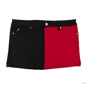 Tripp NYC 80s 90s Gothic Punk Amime Goth Emo Red Black Split Mini Skirt Size S