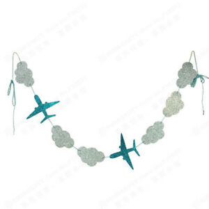 1Set-Clouds-and-Airplanes-Garland-Party-Decoration-Hanging-Background-Banners