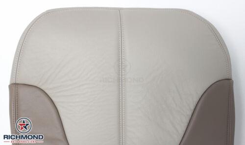 1999-2000 GMC Yukon Denali Driver Side Bottom Leather Seat Cover 2-Tone TAN
