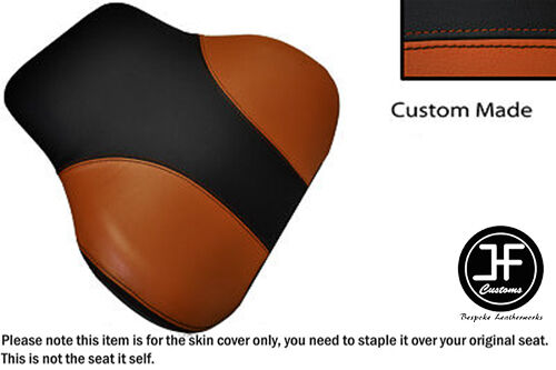BLACK /& LIGHT GREY CUSTOM FITS BMW C1 125 200 BACKREST LEATHER SEAT COVER