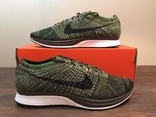 Nike Flyknit Racer Earth Tones Size 10 Rough Green Olive