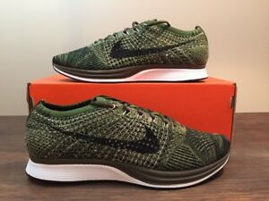 b04cce190028 NIKE FLYKNIT RACER EARTH TONES ROUGH GREEN OLIVE 862713-300 Size 6 ...