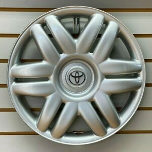 2000-2001-TOYOTA-CAMRY-15-034-Silver-Hubcap-Wheelcover-Factory-Original