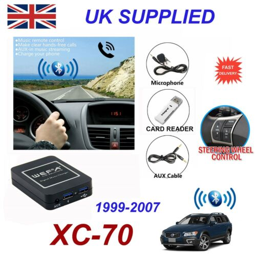 For Volvo XC70 Bluetooth Hands Free Phone AUX Input MP3 USB Charger Module HU