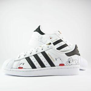 Détails sur Chaussures Adidas Superstar Peint A la Main avec Chat et Pelote