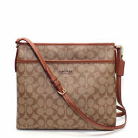 Coach Signature File Crossbody Bag (Multi Color)