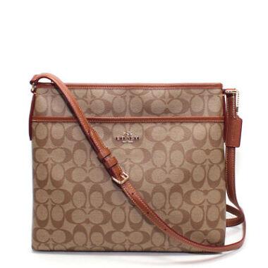 Coach Signature File Crossbody Bag